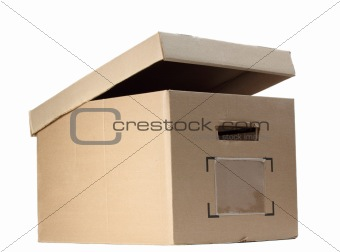 box with opened cover