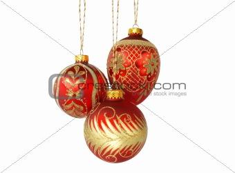Three red balls
