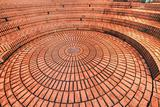Circular brickwork in Pioneer Courthouse Square