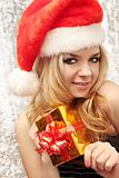 blond in suit Santa Claus