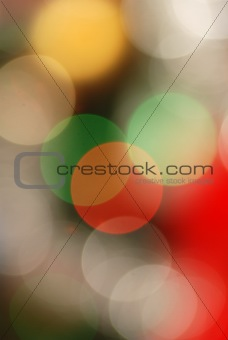 Abstract Christmas lights