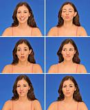 Beautiful woman expressions