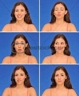 Beautiful woman expressions