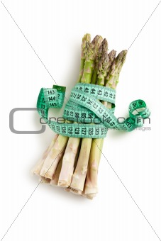 asparagus with measuring tape