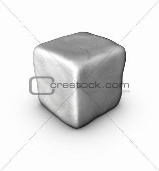 1 one 3d singular cobble stone on white