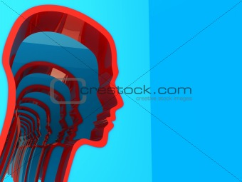 abstract head silhouette
