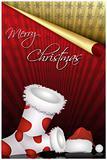 christmas sock and santa hat