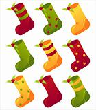 colorful christmas socks