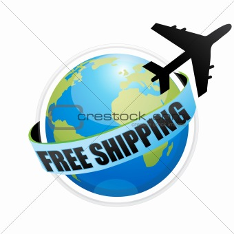 free shipping with aeroplane