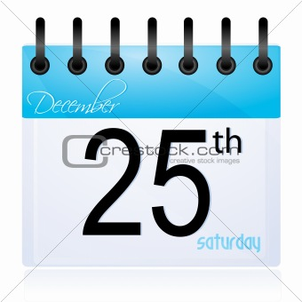 calender page for 25th December