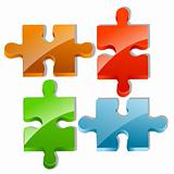 pieces of jigsaw puzzle