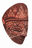 Traditional indonesian mask on a white background