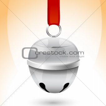 Christmas sleigh bell isolated