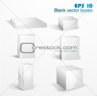 White blank boxes