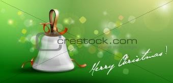 Christmas Santa's hand bell card