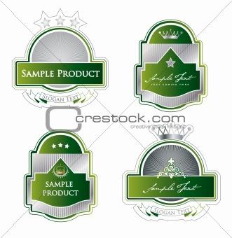 Framed labels set