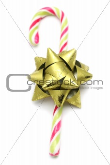 Candy cane with green bow