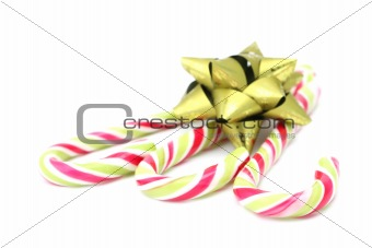 Candy canes with green bow