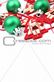 Green and red Christmas decorations