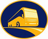 tourist coach bus icon