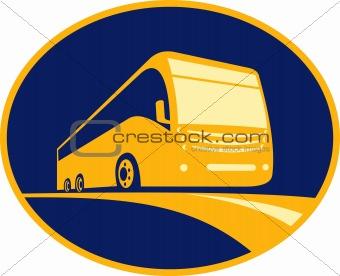 tourist coach bus icon