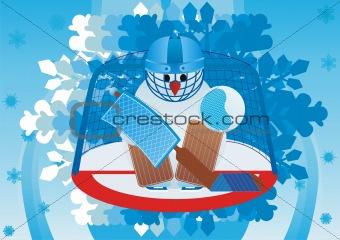 Goalkeeper snowman
