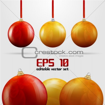 Colored Christmas vector balls