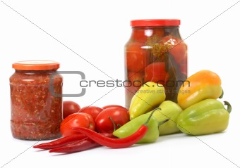 Fresh and tinned vegetables