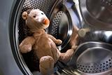 Toy Hedgehog in Washing Machine