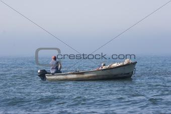 fishermen in their boat