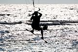 kitesurfer  silhouette