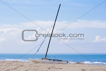 catamaran on a beach