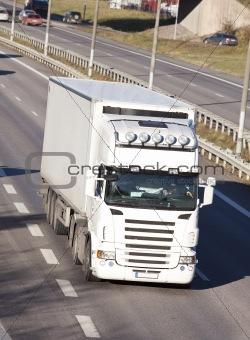 Clean white truck
