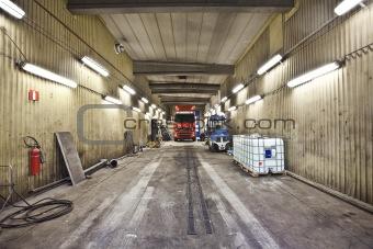Truck indoor