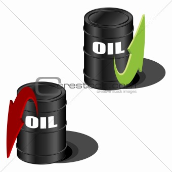 Oil prices up and down