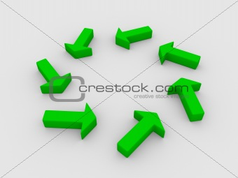 arrows in a circle