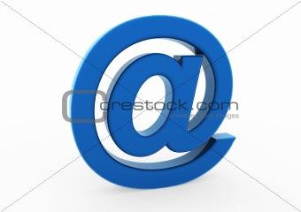 3d email symbol blue