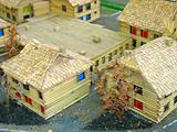 Decorative village breadboard wooden house models