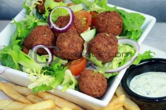 Falafel on Salad