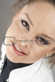 Close up of a beautiful young woman