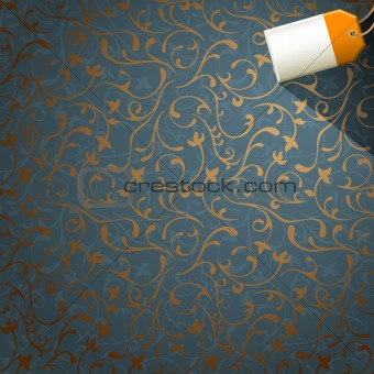 floral background with tag