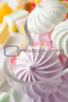 Candy and meringues