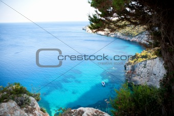 Beautiful view of coastline in Zakynthos