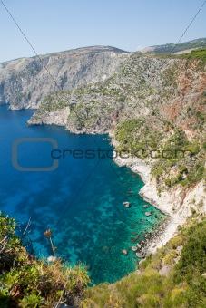 Beautiful view of coastline in Zakynthos