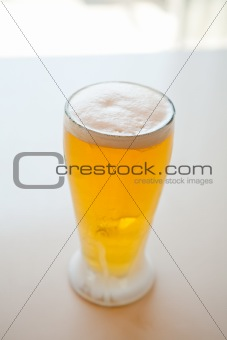 Fresh and cold foamy beer
