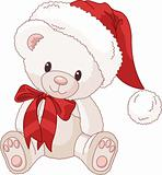 Cute Teddy Bear with Santas hat