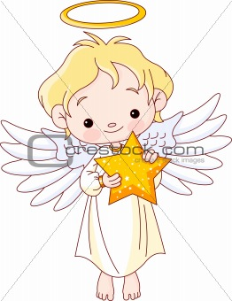 Christmas Angel with star