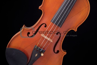 Violin Viola Isolated On Black