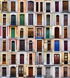 colored doors, Barcelona
