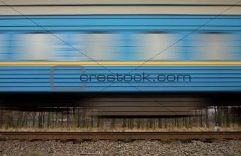 train wagon with blur effect